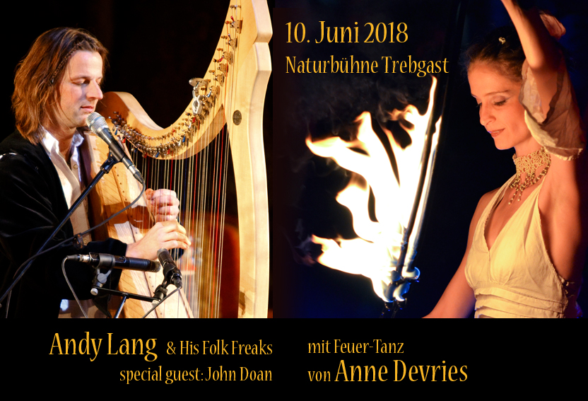 10.06.2018 Celtic Songs & Spirit of Fire mit Andy Lang & Anne Devries