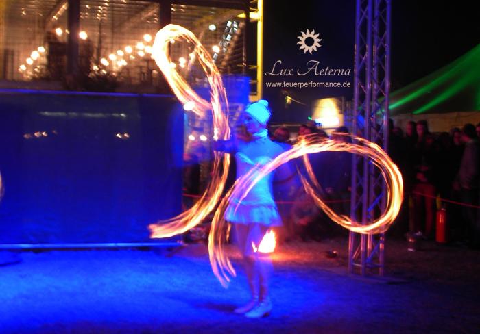 4.1.2019 Franken Therme Bad Windsheim Feuershow von Lux Aeterna