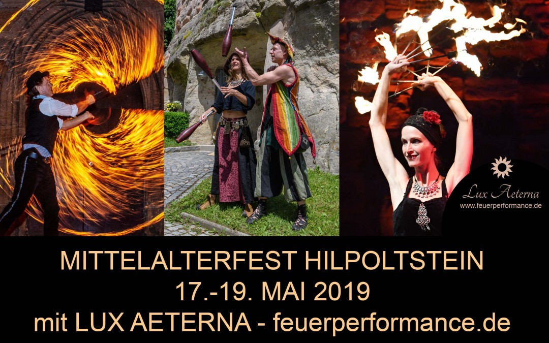 Mittelalterfest Hilpoltstein 2019 mit Lux Aeterna 17.-19.Mai