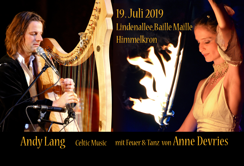 19.07.2019 Andy Lang & Anne Devries, Konzert mit Feuer-Tanz, Himmelkron