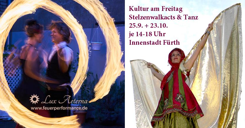 Kultur am Freitag 25.9.+23.10.2020 mit Lux Aeterna in Fürth